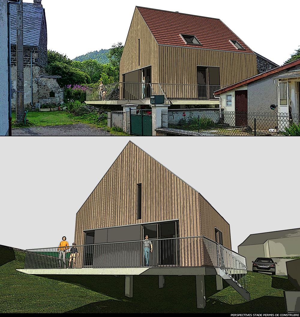 maison d 39 architecte en bois sur la commune d 39 aydat. Black Bedroom Furniture Sets. Home Design Ideas