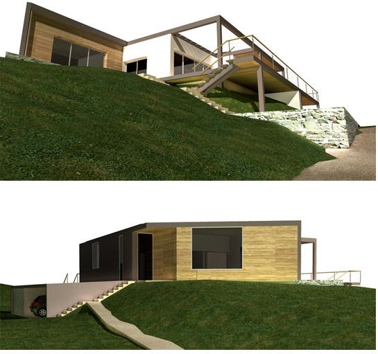 g te rural en auvergne architecture bioclimatique et bioconstruction. Black Bedroom Furniture Sets. Home Design Ideas